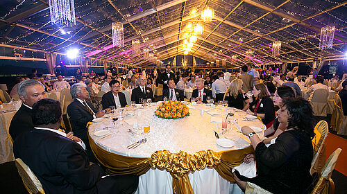 Photo of the table of honour