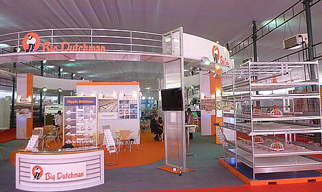 Big Dutchman booth with modern poultry equipment