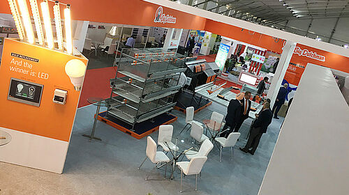 Exhibition stand from above
