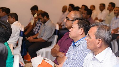 Customers attending the seminar on poultry production