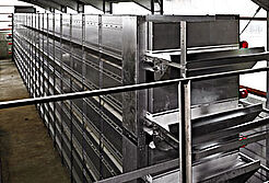 Manure drying tunnel