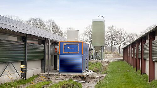 Compact and assembly-friendly exhaust air washer for poultry growing