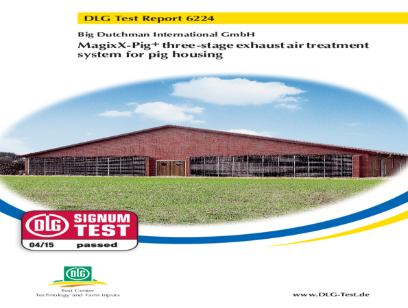Test report MagixX-Pig+ exhaust air treatment system
