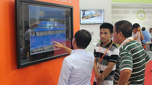 A demonstration of the BD Product Selector touch screen