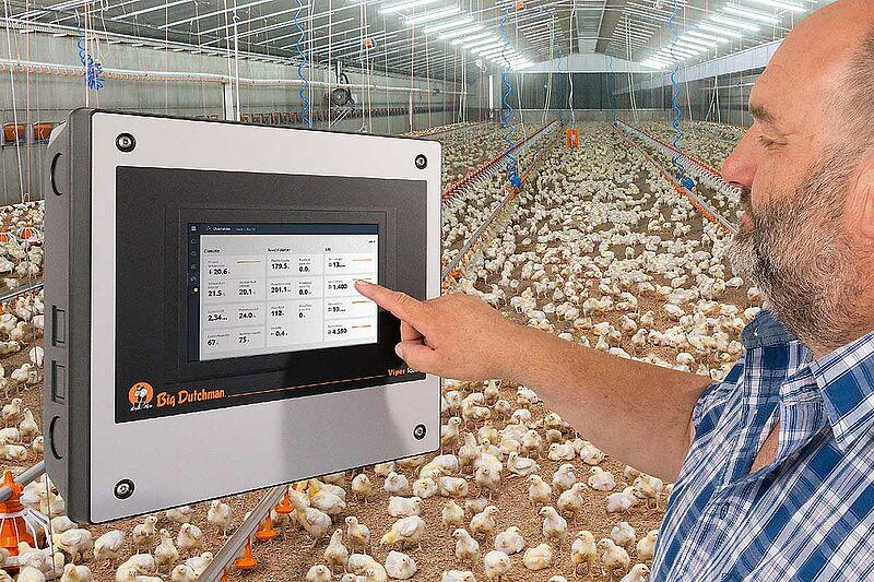 ViperTouch paukštidės klimato kontrolė