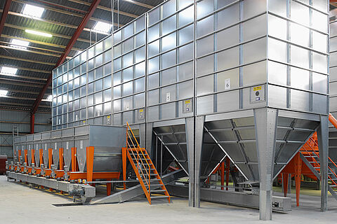 Silos for indoor and outdoor use