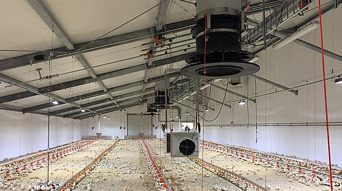 Equipment for an ideal climate in the poultry house