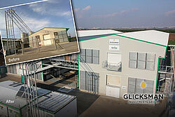 Poultry house before and after conversion