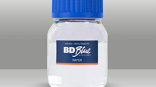 Small bottle with water