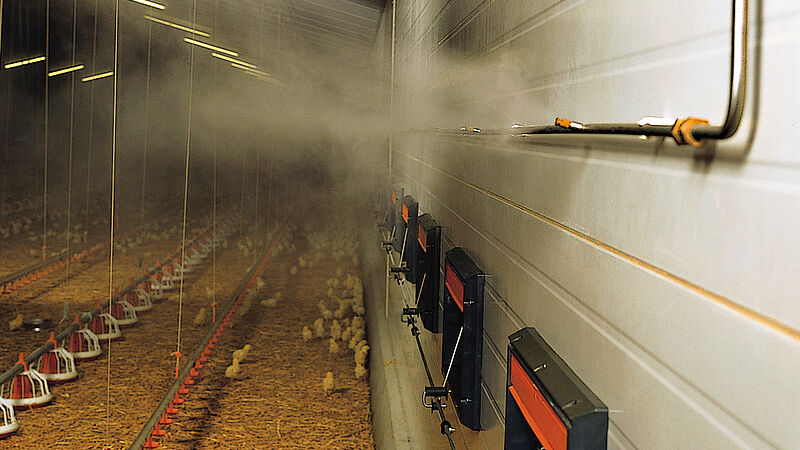 Fogging Cooler – the high-pressure fogging system for poultry climate control