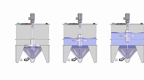 Innovative pig production: Level-controlled agitator for liquid feeding featuring different filling levels
