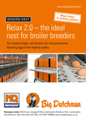 Relax 2.0 – the ideal nest for broiler breeders