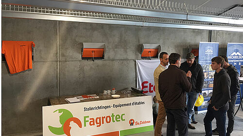 Fagrotec information booth with visitors