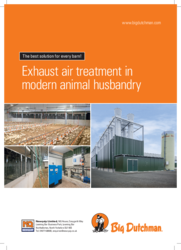 Exhaust air treatment in modern animal husbandry