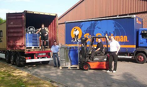 Loading of electronic sow feeding systems