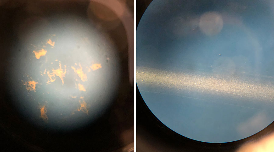 Two microscope images