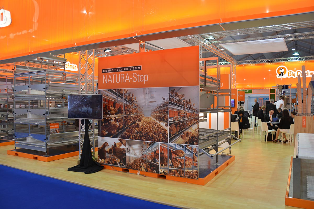Exhibition Booth Bangkok : Big dutchman booth attracts a multitude of visitors in